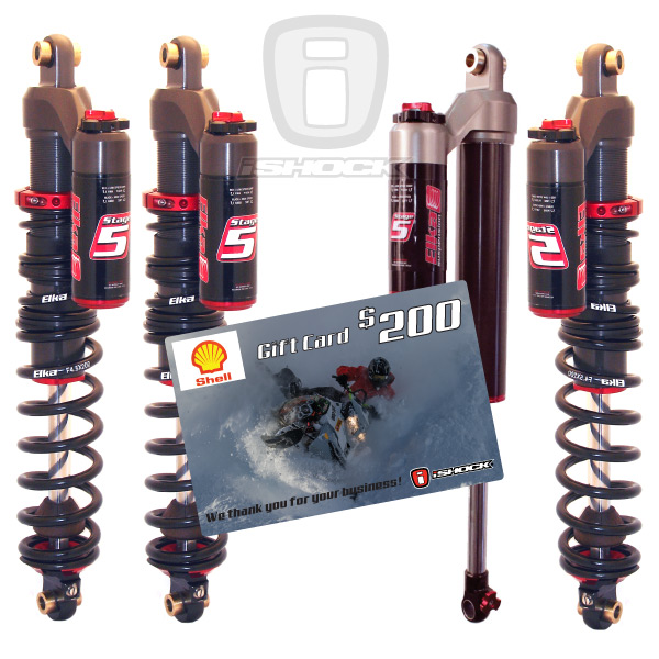 Elka Stage 5 Snowmobile Shock Package Deal iShock