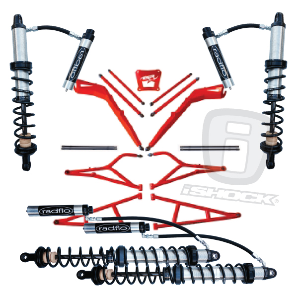 LSR and Radflo Shocks UTV RZR XP1000 Suspension Kit iShock