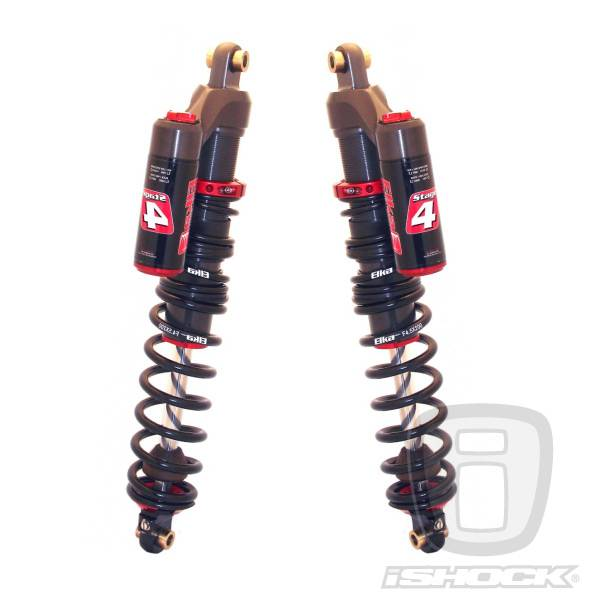Elka - Elka ATV Stage 4 Reservoir Front Shocks - ALL NEW!