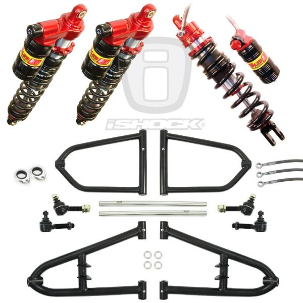 "Alba Racing  - Alba ATV i6500 Elka ""Legacy"" Series Front and Rear Standard Travel Suspension System"