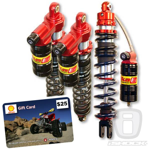 Elka - Elka ATV Legacy Series Front and Rear Reservoir Shock Package w/ FREE $25 GAS CARD!
