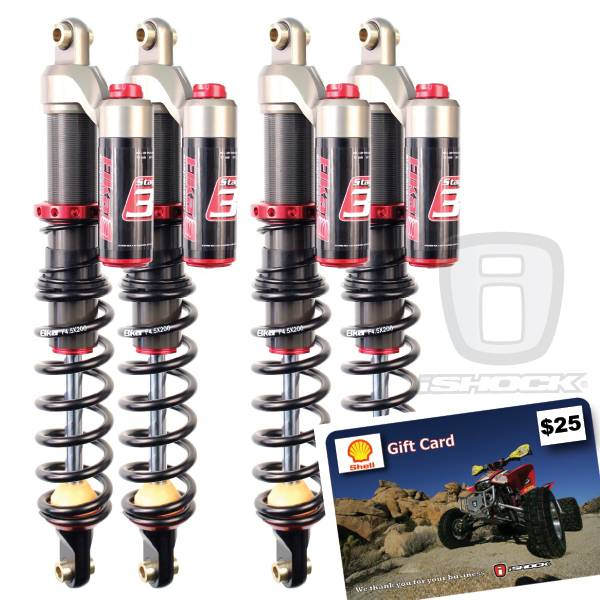 Elka - Elka Factory Sale! Stage 3 Reservoir Front and Rear Utility Quad Shocks - PACKAGE DEAL